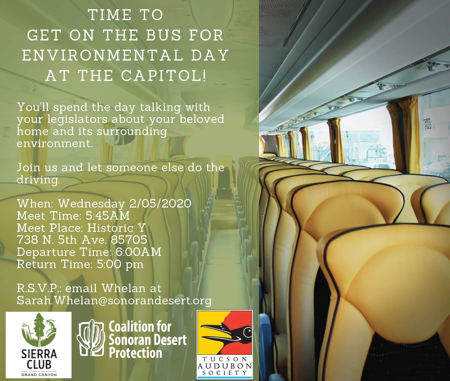 Get on the Bus from Tucson to Environmental Lobby Day